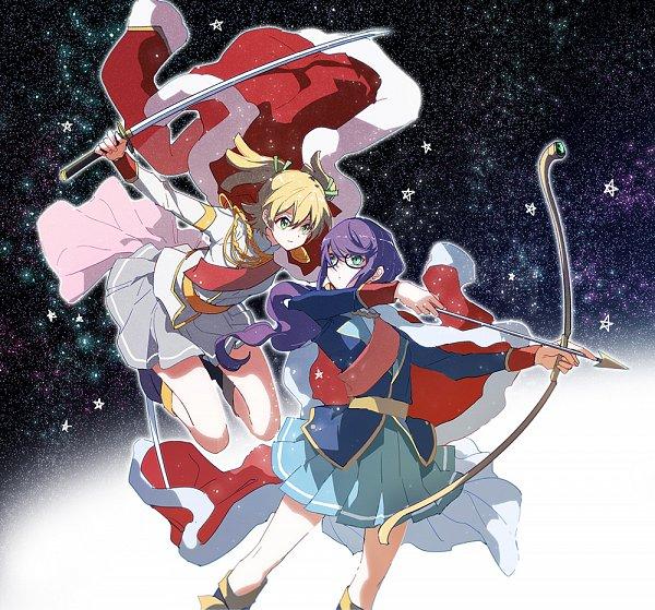 Tags: Anime, kageuri, Shoujo☆Kageki Revue Starlight, Hoshimi Junna, Daiba Nana, Fanart