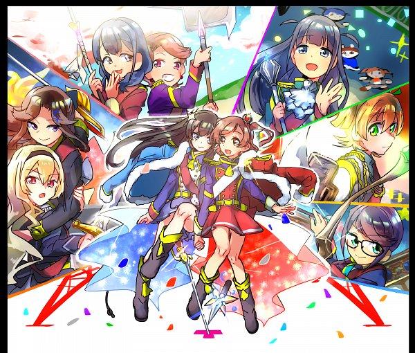 Tags: Anime, Pixiv Id 24965838, Shoujo☆Kageki Revue Starlight, Kagura Hikari, Daiba Nana, Aijou Karen, Tsuyuzaki Mahiru, Hanayagi Kaoruko, Hoshimi Junna, Isurugi Futaba, Tendou Maya, Saijou Claudine, Fanart