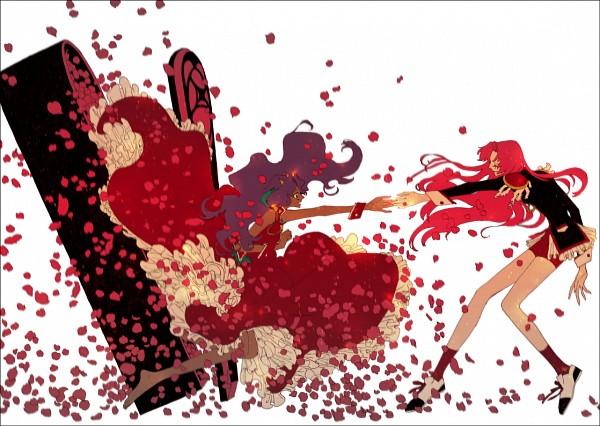 Tags: Anime, Pixiv Id 1931764, Shoujo Kakumei Utena, Himemiya Anthy, Tenjou Utena, Coffin, Fanart From Pixiv, Fanart, Pixiv, Revolutionary Girl Utena