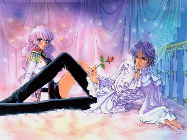 Tags: Anime, Chiho Saito, Shoujo Kakumei Utena, Shoujo Kakumei Utena : Saitou Chiho Fukusei Gengashuu, Ohtori Akio, Tenjou Utena, Tomboy, Bindi, Official Art, Scan, Revolutionary Girl Utena