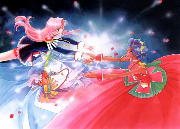 Tags: Anime, Chiho Saito, Shoujo Kakumei Utena, Shoujo Kakumei Utena : Saitou Chiho Fukusei Gengashuu, Tenjou Utena, Himemiya Anthy, Prince Dios, Tomboy, Scan, Official Art, Revolutionary Girl Utena