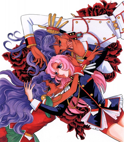 Tags: Anime, Chiho Saito, Shoujo Kakumei Utena, Shoujo Kakumei Utena : Saitou Chiho Fukusei Gengashuu, Himemiya Anthy, Ohtori Akio, Tenjou Utena, Tomboy, Bindi, Scan, Official Art, Revolutionary Girl Utena