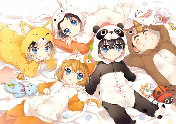 Tags: Anime, MonicA (Artist), Meitantei Conan, Haibara Ai, Edogawa Conan, Tsuburaya Mitsuhiko, Kojima Genta, Yoshida Ayumi, Shounen Tanteidan, Detective Boys