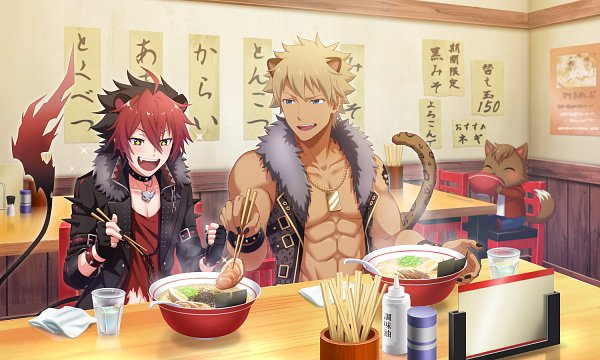 Tags: Anime, Show By Rock!! Fes A Live, Show by Rock!!, Rom (Show by Rock!!), Crow (Show by Rock!!), Ramen, Official Art, Official Card Illustration
