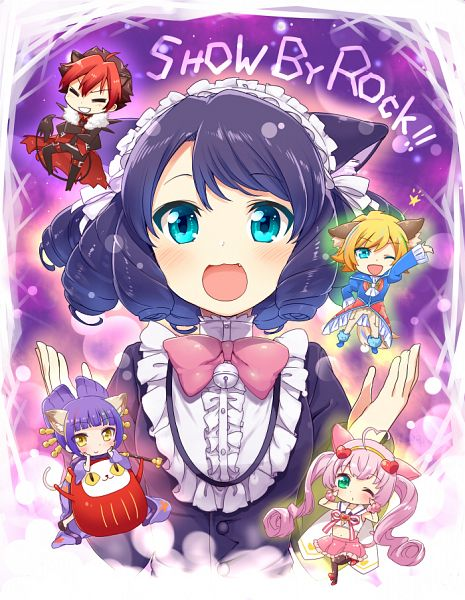 Tags: Anime, Mitsuki Meiya, Show by Rock!!, Shu Zo (Show by Rock!!), Daru Tayuu, Rosia (Show by Rock!!), Crow (Show by Rock!!), Cyan (Show by Rock!!)
