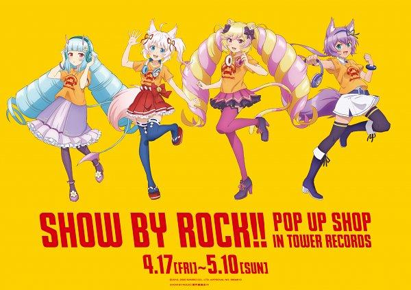Tags: Anime, Kinema Citrus, Show by Rock!! Mashumairesh!!, Mashimahimeko, Howan, Ruhuyu, Delmin, Product Advertising, Official Art