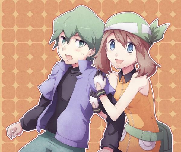 Tags: Anime, Natsu (728), Pokémon, Shuu (Pokémon), Haruka (Pokémon), Rivals, Fanart, ShuHaru