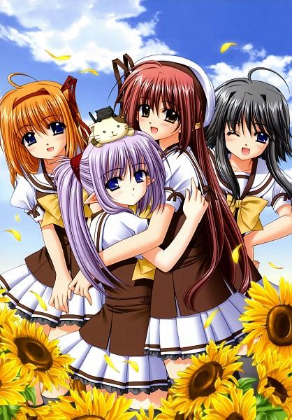 Tags: Anime, Navel (Studio), Shuffle!, Primula (Shuffle!), Lisianthus Eustoma, Mayumi Thyme, Fuyou Kaede, Mobile Wallpaper