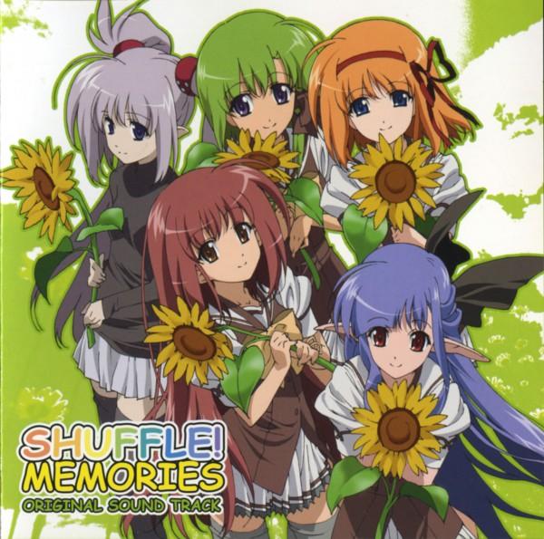 Tags: Anime, Navel (Studio), Shuffle!, Shigure Asa, Fuyou Kaede, Primula (Shuffle!), Lisianthus Eustoma, Nerine (Shuffle!), CD (Source), Official Art