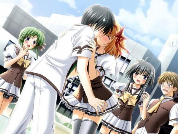 Tags: Anime, Navel (Studio), Shuffle!, Midoriba Itsuki, Shigure Asa, Mayumi Thyme, Fuyou Kaede, Tsuchimi Rin