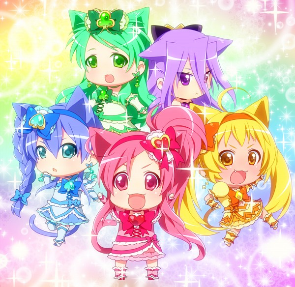 Tags: Anime, 0417nao, Shuffle! Precure, Pretty Cure Fan Series, Himuro Rena, Crown Joker, Aino Hikaru, Cure Alto, Nobara Rei, Cure Prism, Kihara Mirai, Cure Royal, Tamakare Ayano