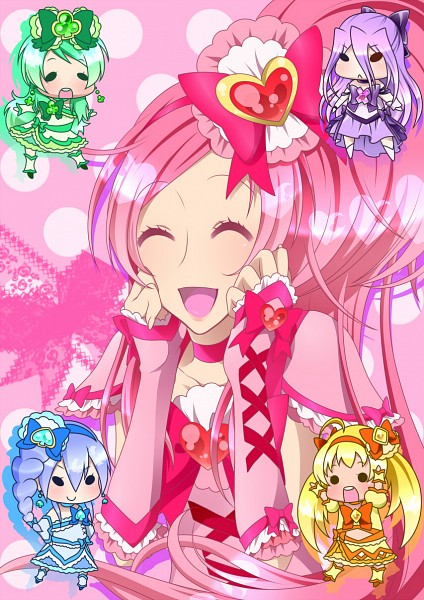 Tags: Anime, 0417nao, Shuffle! Precure, Pretty Cure Fan Series, Nobara Rei, Cure Prism, Kihara Mirai, Cure Royal, Tamakare Ayano, Cure Jewel, Himuro Rena, Crown Joker, Aino Hikaru