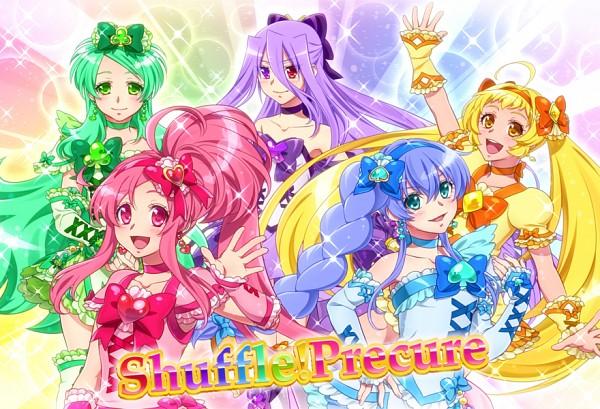 Tags: Anime, 0417nao, Shuffle! Precure, Pretty Cure Fan Series, Aino Hikaru, Cure Alto, Nobara Rei, Cure Prism, Kihara Mirai, Cure Royal, Tamakare Ayano, Cure Jewel, Himuro Rena