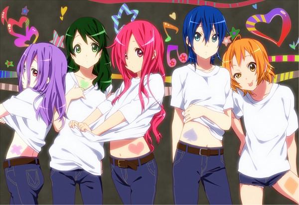 Tags: Anime, 0417nao, Pretty Cure Fan Series, Shuffle! Precure, Tamakare Ayano, Himuro Rena, Aino Hikaru, Nobara Rei, Kihara Mirai, K-ON! (Cosplay), K-ON! Character Design, Pixiv