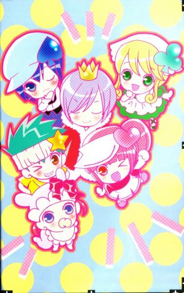 Tags: Anime, PEACH-PIT, Shugo Chara!, Su (Shugo Chara!), Ran (Shugo Chara!), Miki (Shugo Chara!), Daichi, Kiseki, Pepe, Pacifier, Spade (Card), Official Art, Self Scanned