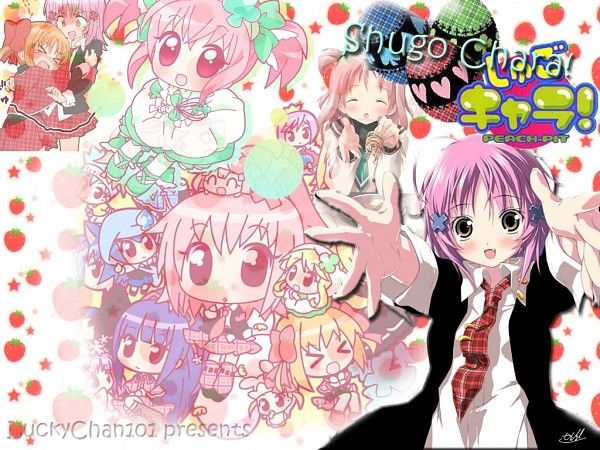 Tags: Anime, Kantoku, Mirai, Shugo Chara!, Sakura Musubi, Yuiki Yaya, Temari (Shugo Chara!), Ran (Shugo Chara!), Tsukiyomi Ikuto, Miki (Shugo Chara!), Su (Shugo Chara!), Kiseki, Amulet Clover