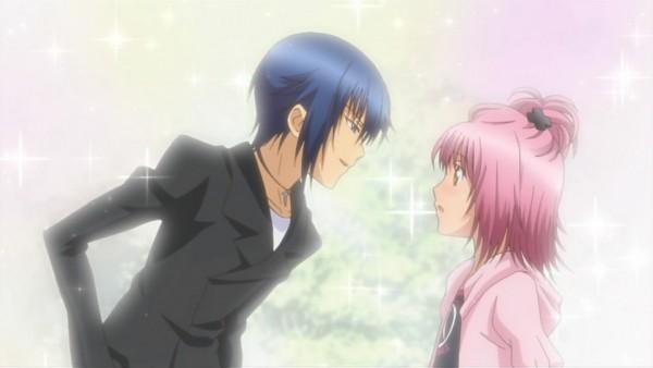 Tags: Anime, Shugo Chara!, Hinamori Amu, Tsukiyomi Ikuto, Facebook Cover, Screenshot, Wallpaper