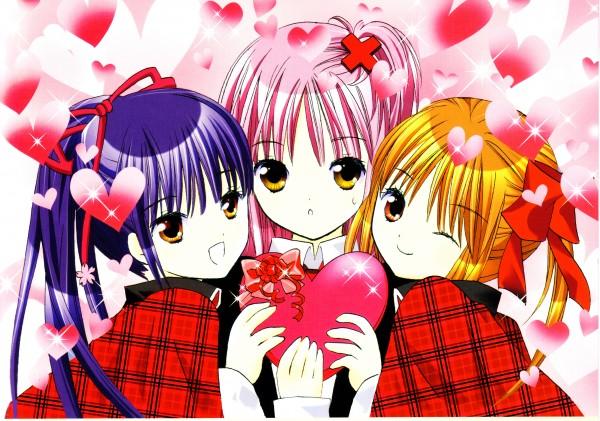 Tags: Anime, PEACH-PIT, Shugo Chara!, Shugo Chara! Illustrations, Hinamori Amu, Fujisaki Nadeshiko, Fujisaki Nagihiko, Yuiki Yaya, Self Scanned