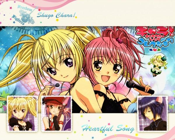 Tags: Anime, Shugo Chara!, Hoshina Utau, Hinamori Amu, Wallpaper