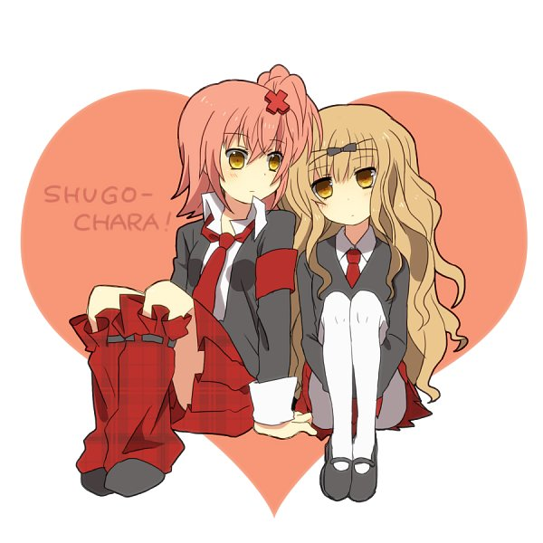 Tags: Anime, Sakuragi Mochi, Shugo Chara!, Mashiro Rima, Hinamori Amu, Pixiv, Twitter, Fanart From Pixiv, Fanart