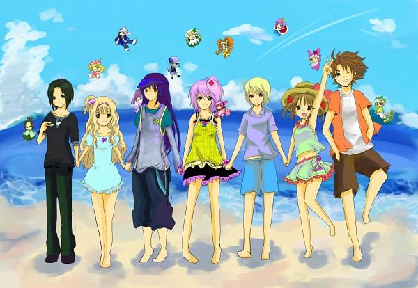 Tags: Anime, Shugo Chara!, Kiseki, Rhythm, Miki (Shugo Chara!), Temari (Shugo Chara!), Pepe, Hinamori Amu, Dia, Yuiki Yaya, Kusukusu, Hotori Tadase, Ran (Shugo Chara!)