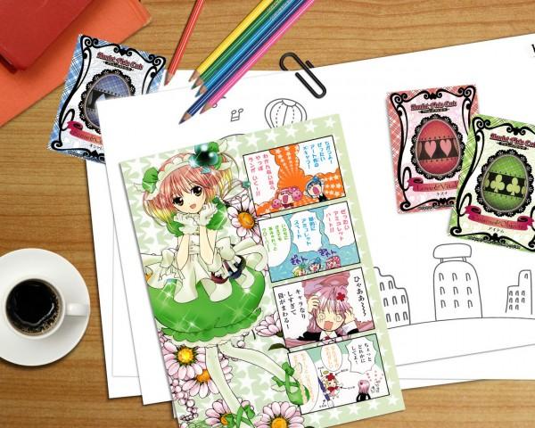 Tags: Anime, Shugo Chara!, Amulet Clover, Hinamori Amu, Color Pencils, Wallpaper