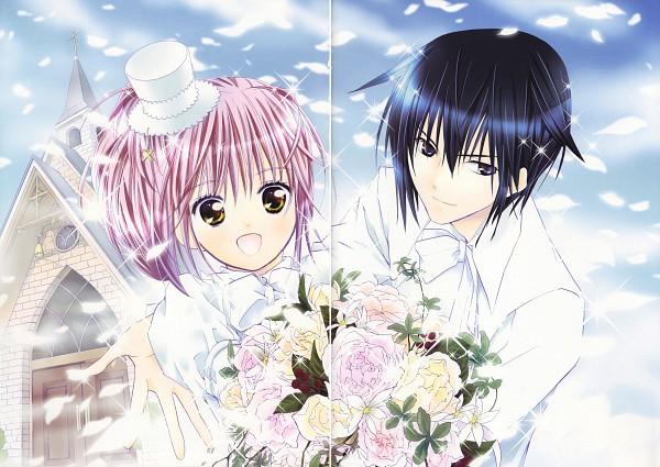 Tags: Anime, PEACH-PIT, Shugo Chara!, Shugo Chara! Illustrations 2, Hinamori Amu, Tsukiyomi Ikuto, Official Art, Scan