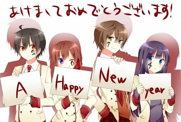 Tags: Anime, Pixiv Id 7542033, Shuuen no Shiori Project, A-ya, D-ne, C-ta, B-ko, Fanart From Pixiv, Pixiv, Fanart, Bookmark Of Demise Project