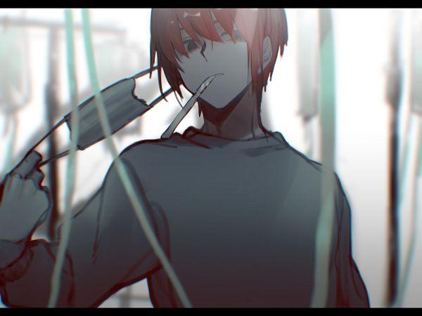 Tags: Anime, Sidu, Operation Knives, I.V. Pole, Holding Mask, Doctor, Medical Mask, Original, Wallpaper