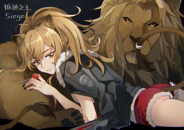 Tags: Anime, Pixiv Id 8701189, Arknights, Siege (Arknights), Shishimimi, Lion Tail
