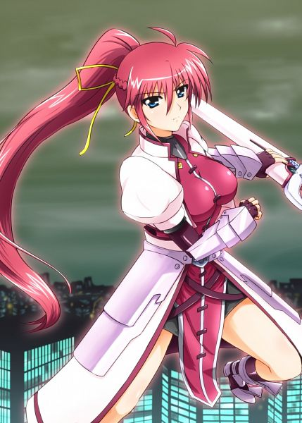 Tags: Anime, Diesel-Turbo, Mahou Shoujo Lyrical Nanoha, Signum