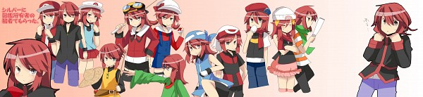 Tags: Anime, Pixiv Id 2250689, Pokémon SPECIAL, Pokémon, Silver (Pokémon), Fishing Rod, Fanart, Pixiv