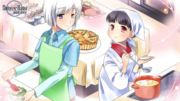 Tags: Anime, TOMMY WALKER, Silver Rain, Layered Clothes, Dining Tables, Ladle, Headscarf, Cooking Pot, Spatula