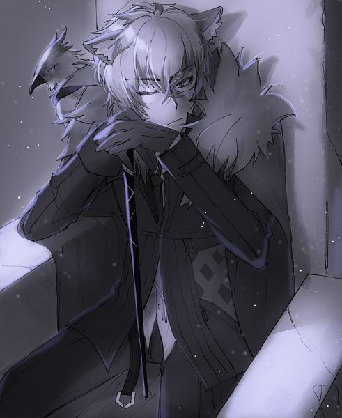 Tags: Anime, Pixiv Id 8200813, Arknights, Silverash, Bird on Shoulder, Pixiv, Fanart, Fanart From Pixiv