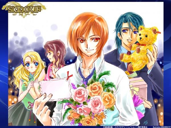 Tags: Anime, Simoun, Yun (Simoun), Paraietta, Anubituf, Guragief, Official Art