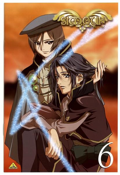 Tags: Anime, Nishida Asako, Simoun, Guragief, Anubituf, Official Art, Scan, DVD (Source)