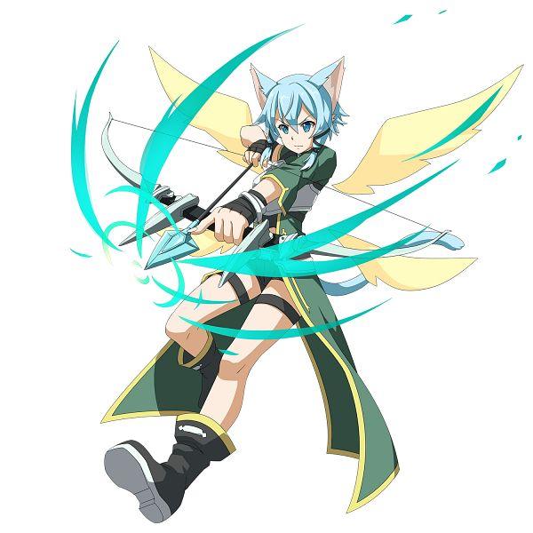 Tags: Anime, Bandai Namco Entertainment, Sword Art Online, Sword Art Online: Memory Defrag, Sinon (ALO), Asada Shino, PNG Conversion, Official Art