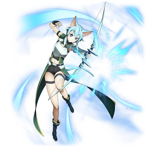 Tags: Anime, A-1 Pictures, Bandai Namco Entertainment, Sword Art Online, Sword Art Online: Memory Defrag, Sinon (ALO), Asada Shino, PNG Conversion, Official Art