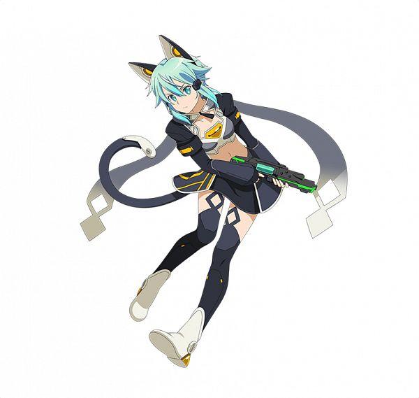 Tags: Anime, Bandai Namco Entertainment, Sword Art Online, Sword Art Online: Code Register, Asada Shino, Sinon (ALO), PNG Conversion, Official Art