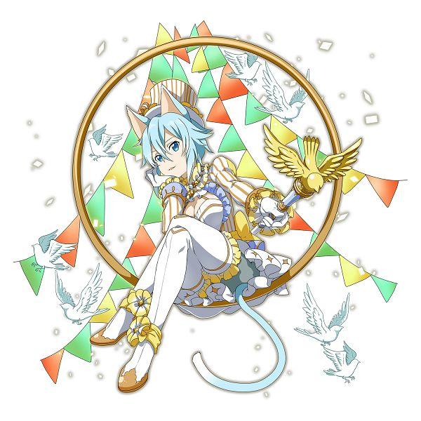 Tags: Anime, Bandai Namco Entertainment, Sword Art Online, Sword Art Online: Memory Defrag, Sinon (ALO), Asada Shino, Official Art