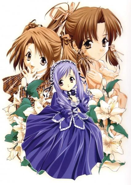 Tags: Anime, Tenhiro Naoto, Sister Princess, Art of Sister Princess I, Aria (Sister Princess), Haruka (Sister Princess), Yotsuba (Sister Princess)
