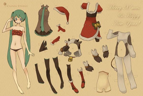 Tags: Anime, Siting Zeng, VOCALOID, Hatsune Miku, Paper Dolls, Pixiv