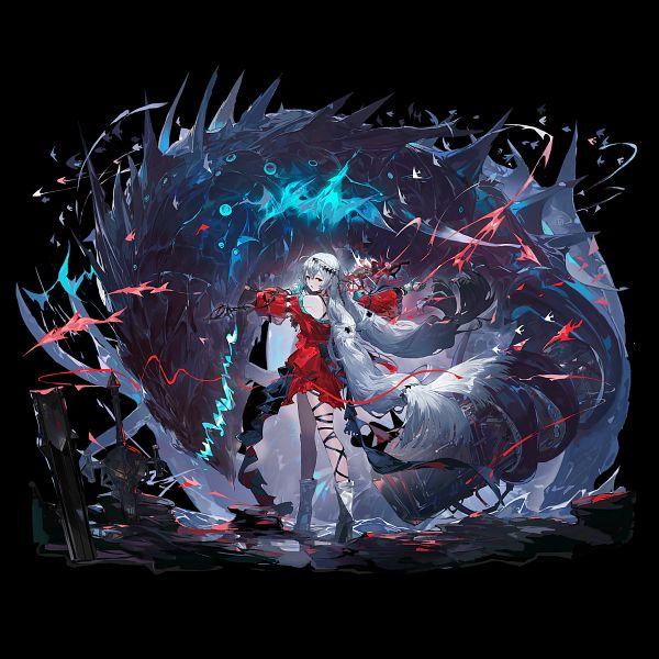 Tags: Anime, Alchemaniac, HyperGryph, Arknights, Skadi The Corrupting Heart, Skadi (Arknights), Official Art