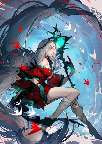 Tags: Anime, Pixiv Id 7263576, Arknights, Skadi The Corrupting Heart, Skadi (Arknights), Laurel Wreath, Fanart From Pixiv, Pixiv, Fanart