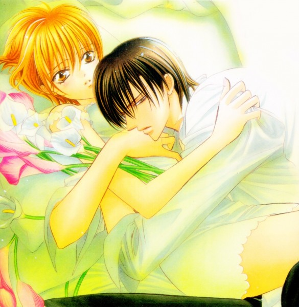 Tags: Anime, Skip Beat!, Tsuruga Ren, Mogami Kyoko, Manga Cover, Official Art, Scan