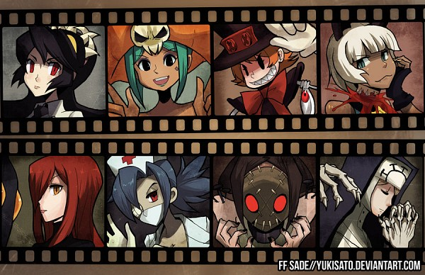 Tags: Anime, Yukisato, KONAMI, Skullgirls (Game), Cerebella (Skullgirls), Valentine (Skullgirls), Samson (Skullgirls), Painwheel, Filia (Skullgirls), Ms. Fortune, Double (Skullgirls), Parasoul, Peacock (Skullgirls)