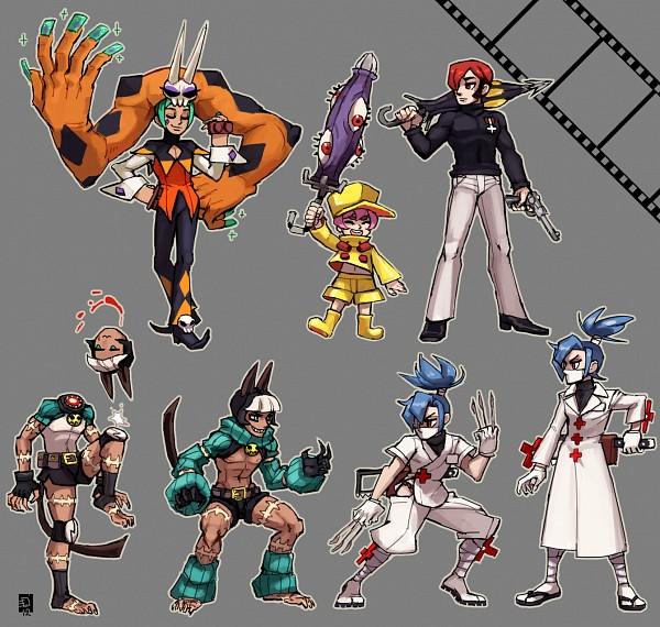 Tags: Anime, Emlan, KONAMI, Skullgirls (Game), Valentine (Skullgirls), Ms. Fortune, Parasoul, Cerebella (Skullgirls), Umbrella (Skullgirls)