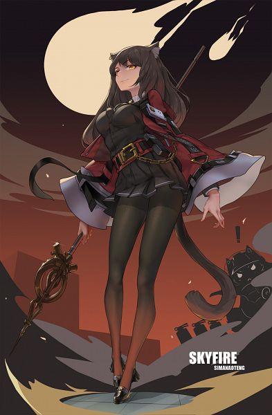 Tags: Anime, Pixiv Id 7933104, Arknights, Skyfire (Arknights)