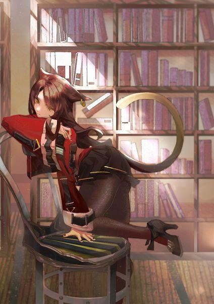 Tags: Anime, Pixiv Id 6156541, Arknights, Skyfire (Arknights), Arknights Battle Illustration Contest, Pixiv