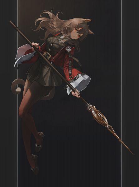 Tags: Anime, Pixiv Id 22528152, Arknights, Skyfire (Arknights), Pixiv, Arknights Battle Illustration Contest